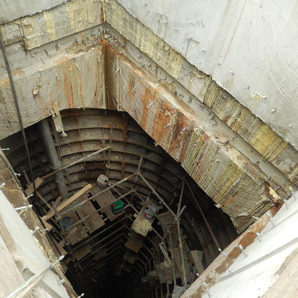 Гидроизоляция шахты